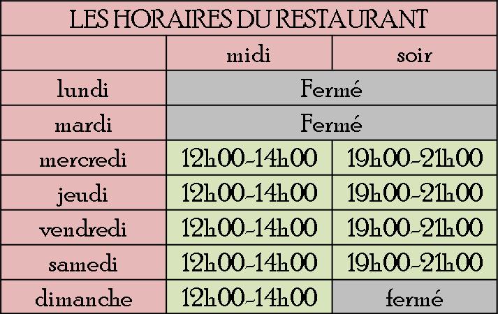 horaires internet