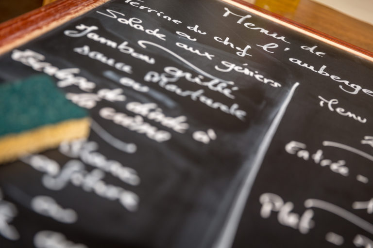 le menu du jour du restaurant l'auberge les tilleuls dans l'oise